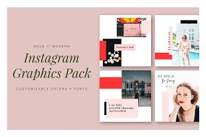 Bold and Modern Instagram Templates