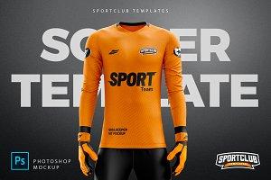 GoalKeeper Kit Mockup - PSD Template