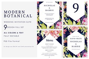 Modern Botanical Wedding Suite