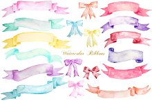 watercolor ribbons