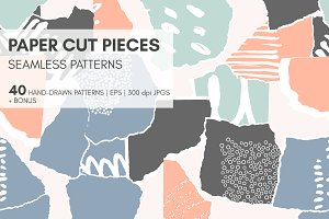 Paper Seamless Patterns + Shapes