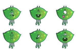 Illustration Of Cute Green Monster