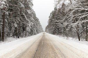 Snowbound Winter road