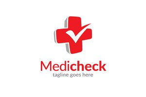 Medical Check Logo Template