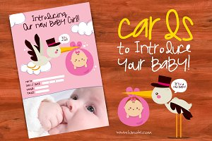 Cards to announcement your baby