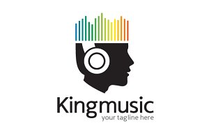 King Music Logo Template