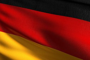 Germany national flag blowing in the