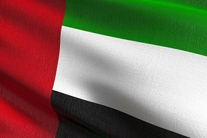 United Arab Emirates national flag b