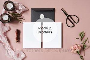 Blank card styled card mockup mock
