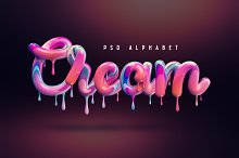 Cream alphabet by  in Objects