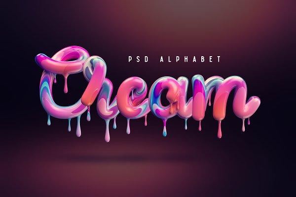 Graphic Objects: Gleb Guralnyk - Cream alphabet