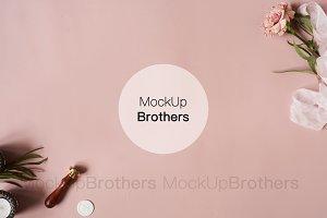 Pink mock-up, Background mockup