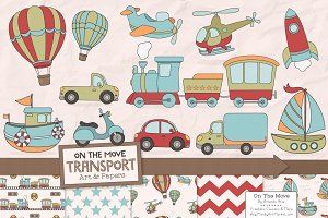 Transportation Clipart & Patterns