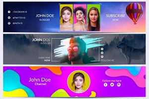 Youtube Channel Art Banner Bundle