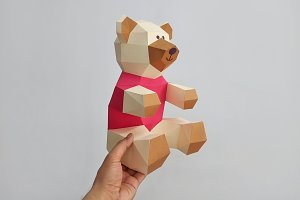 DIY Teddy Bear - 3d papercraft