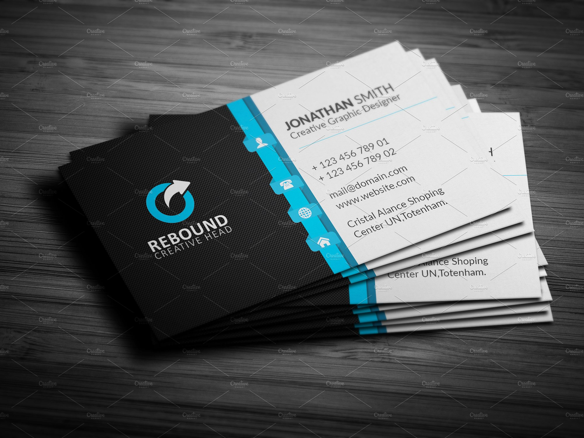 corporate business card business card templates creative market