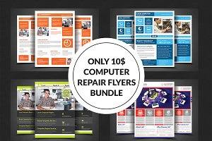 Computer Repair Flyer Bundle