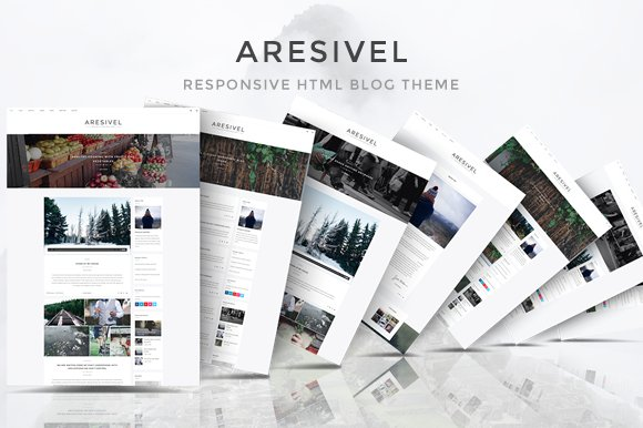 Aresivel html5 blog template website templates creative market aresivel html5 blog template websites maxwellsz