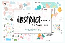 Artistic Abstract Bundle - 4 in 1 by  in Patterns