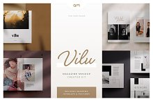 Vilu - Magazine Mockup Creator Kit by  in Product