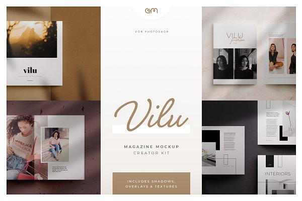 Product Mockups: AM Studio - Vilu - Magazine Mockup Creator Kit
