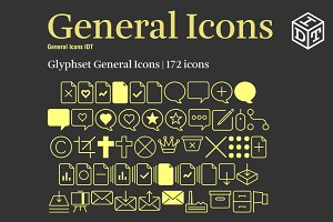 General Icons Font + Web Font(Free)