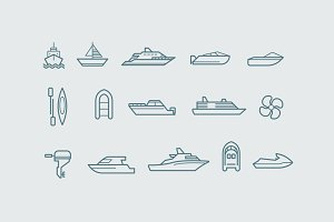 15 Boat Icons