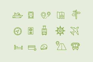 15 Journey Icons