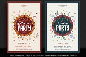 Autumn/Spring Flyer templates