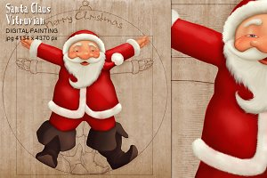 Santa Claus Vitruvian