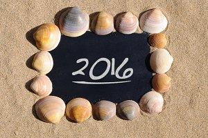 2016 on beach.