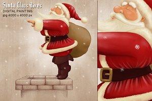 Santa Claus dives