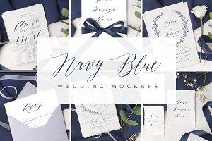 Navy Blue wedding mockup bundle