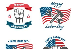 United States Labor Day Badges
