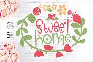 Sweet Home Decor Cut File