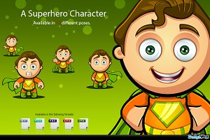 Superhero Character - Orange & Green