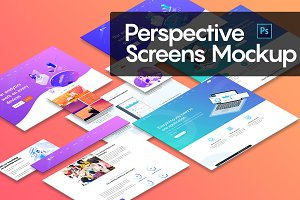 Perspective Screens Mockup