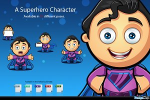 Superhero Character - Blue & Purple