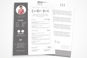 Sharp & Clean Resume for Photoshop