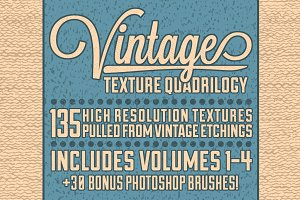 (50% Off) Vintage Texture Quadrilogy