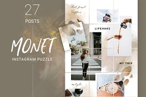 Monet Instagram Puzzle Template
