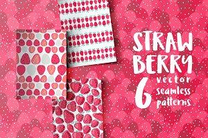 STRAWBERRY, 6 seamless patterns