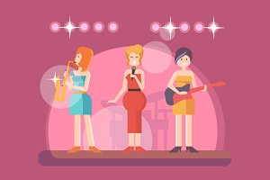 Girls music band