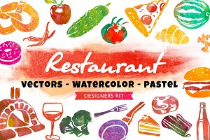 Restaurant - Watercolor/Pastel kit