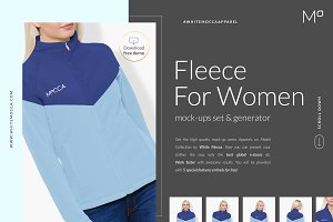 Women Fleece Mockups Set FREE DEMO