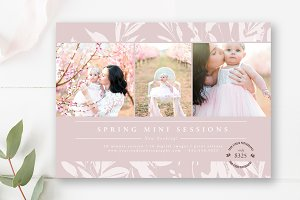 5x7 Spring Mini Session Template