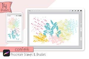 Confetti Stamps & Brushes|Procreate