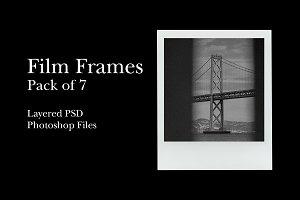 Instant Film Frames Pack - PSD