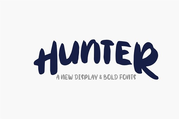Display Fonts: Indotitas - Hunter Typeface