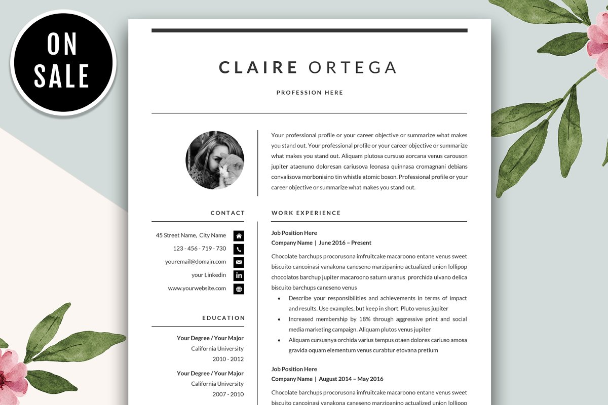 Resume CVTemplate for Microsoft Word ~ Resume Templates